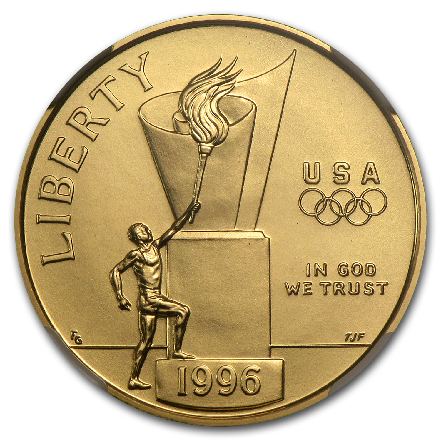 1996-W Cauldron - $5 Gold Commemorative - MS-70 NGC